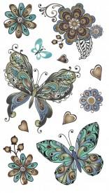 Tatuaj temporar - beautiful butterflies- 17x10cm