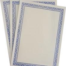 Diploma A4 tipizat cu folio auriu, argintiu si albastru, 100 bucati