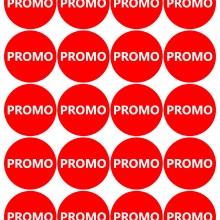 Etichete personalizate cu PROMO, 100 buc, PVC, rezistente la apa