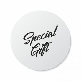 Etichete personalizate SPECIAL GIFT, 100 buc, PVC, rezistente la apa