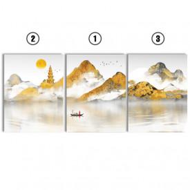Set tablouri canvas - Golden chinese painting