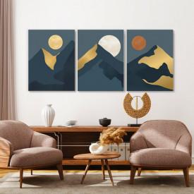Set tablouri canvas - Yellow moon, pale moon, red moon