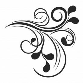 Sticker Swirl Pattern Corner