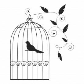 Sticker Vintage Bird Cage
