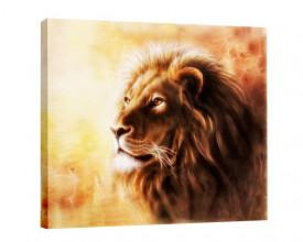 Tablou canvas efect pictura - Leu