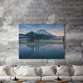 Tablou Canvas Misty mountain