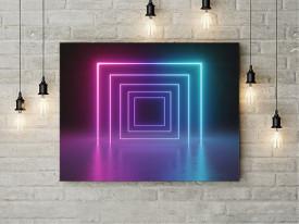 Tablou Canvas Neon squares