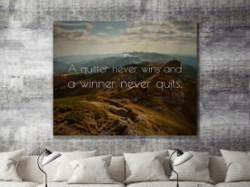 Tablou canvas - Quitter and winner