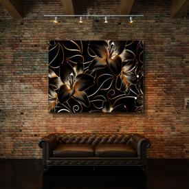 Tablou Canvas Royal Golden Lilies