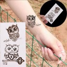 Tatuaj temporar - Bufnita - 10x6cm