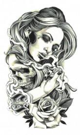 Tatuaj temporar -goth women- 17x10cm