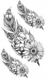 Tatuaj temporar -flowers- 10x17cm