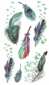 Tatuaj temporar -colorful feathers- 10x17cm