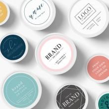 Eticheta personalizata cu logo sau text la alegere, rotunde sau patrate - 100buc/set