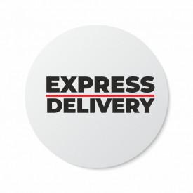 Etichete personalizate EXPRESS DELIVERY, 100 buc, PVC, rezistente la apa