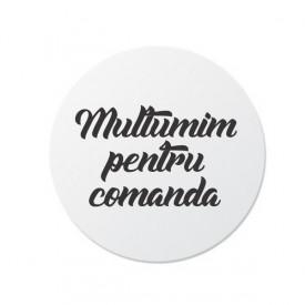 Etichete personalizate MULTUMIM, 100 buc, PVC, rezistente la apa