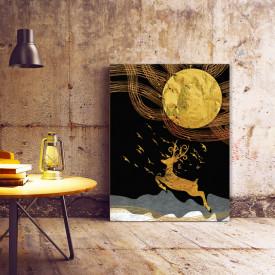Set tablouri canvas - Golden abstract autumn