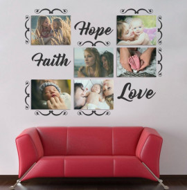 Sticker si canvas - Hope Faith Love