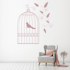 Sticker Vintage Bird Cage