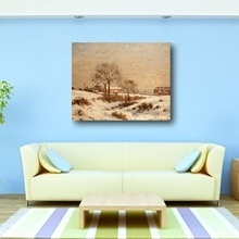 Tablou canvas efect painting - iarna 02