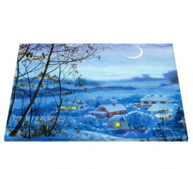 Tablou canvas efect painting - satul meu