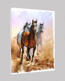 Tablou canvas efect pictura - Cai salbatici