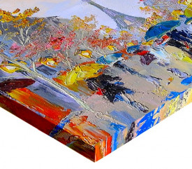 Tablou canvas efect pictura - Zi ploioasa la Paris