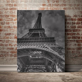 Tablou Canvas Eiffel alb - negru