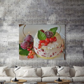 Tablou Canvas Fruits On a Cake