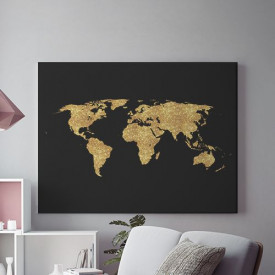 Tablou Canvas Glowing Map