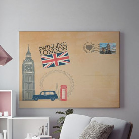 Tablou Canvas Greetings from London
