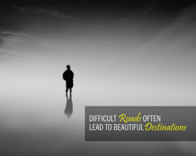 Tablou canvas motivational - Difficult Roads