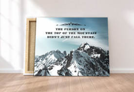 Tablou canvas motivational - Top of the Mountain
