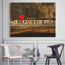 Tablou motivational - Impossible scrabble