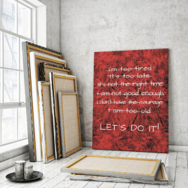Tablou motivational - Let's do it!