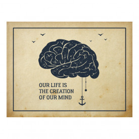 Tablou motivational - Our life is the creation of our minds