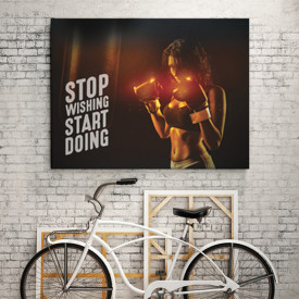 Tablou motivational - Stop wishing, start doing