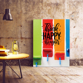 TABLOU MOTIVATIONAL - THINK HAPPY THOUGHTS