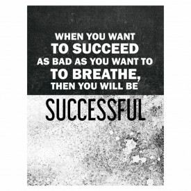 Tablou motivational - When you want to succeed