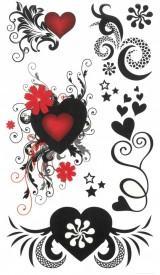 Tatuaj temporar -inimi- 17x10cm
