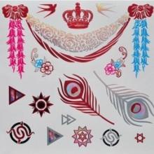 Tatuaj temporar - bijuterii metalice - 21x15cm