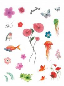 Tatuaj temporar -flower- 20x15cm