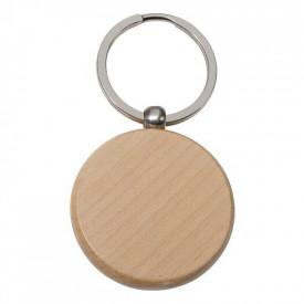 Breloc din lemn rotund - personalizata cu logo - 0644
