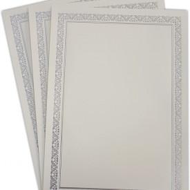 Diploma A4 tipizat cu folio argintiu si albastru, 3 bucati