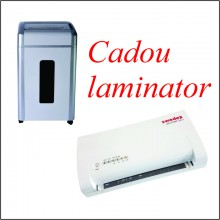 Distrugator de documente si CD, 34 coli, pe roti + Cadou Laminator A3 Swedex