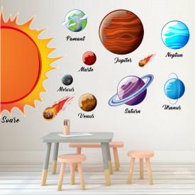 Sistem solar - planete - sticker decorativ, 68x100 cm