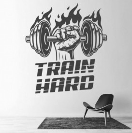 Sticker Train Hard Bodybuilder