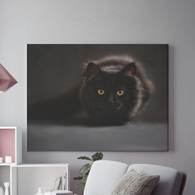 Tablou Canvas Black Cat