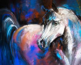 Tablou canvas efect pictura - Cal pictat