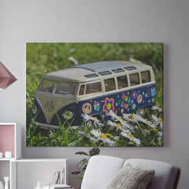 Tablou Canvas Flower Power Van